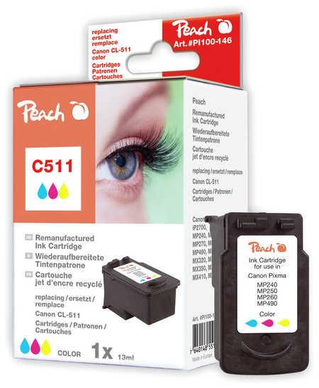Peach  Druckkopf color kompatibel zu Canon Pixma MP 495