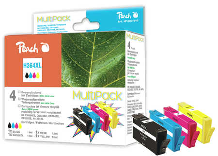 Peach  Spar Pack Tintenpatronen kompatibel zu HP PhotoSmart C 5390