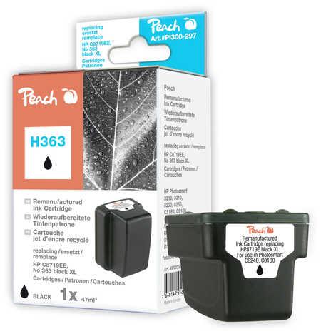 Peach  Tintenpatrone schwarz HC kompatibel zu HP PhotoSmart C 6280