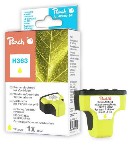 Peach  Tintenpatrone gelb kompatibel zu HP PhotoSmart C 6280