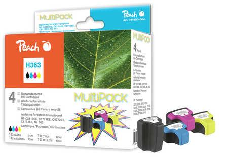 Peach  Spar Pack Tintenpatronen kompatibel zu HP PhotoSmart C 6280