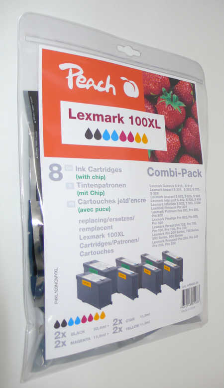 Peach  Spar Pack Tintenpatronen kompatibel zu Lexmark Prospect Pro 205
