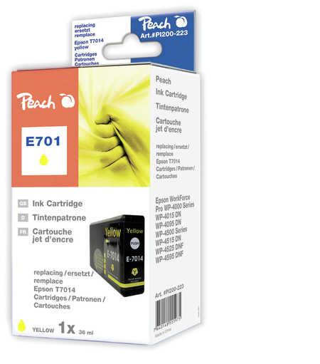 Peach  XL-Tintenpatrone gelb kompatibel zu Epson WorkForce Pro WP-4095 DN