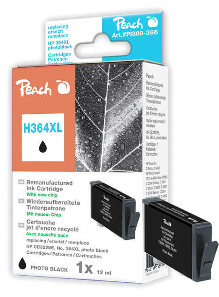 Peach  Tintenpatrone foto schwarz kompatibel zu HP PhotoSmart C 5390