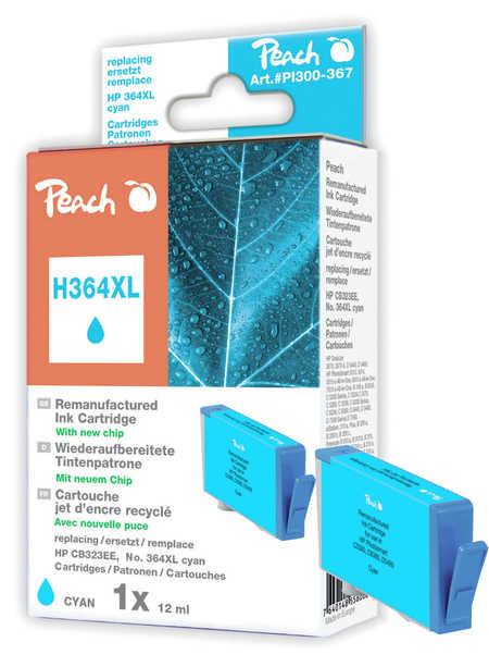 Peach  Tintenpatrone cyan kompatibel zu HP PhotoSmart C 5390
