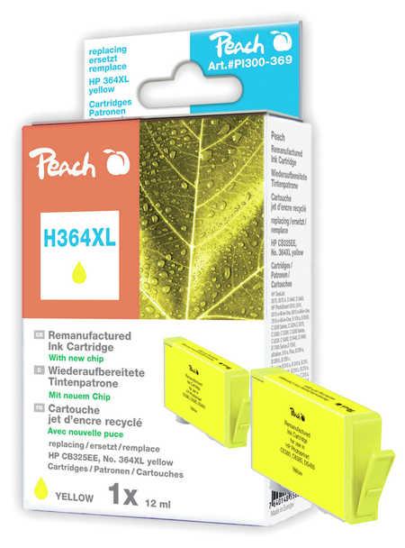 Peach  Tintenpatrone gelb kompatibel zu HP PhotoSmart C 5390