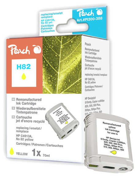 Peach  Tintenpatrone gelb kompatibel zu HP DesignJet CC 800 PS