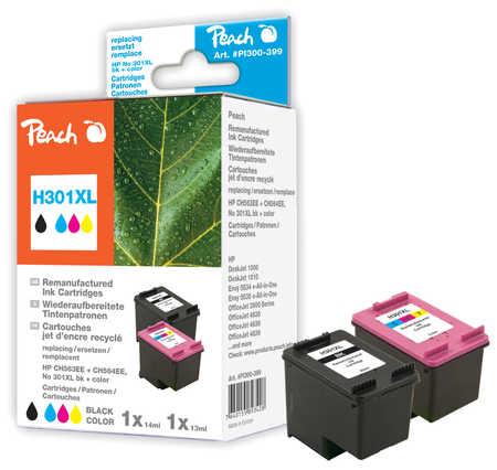 Peach  Spar Pack Druckköpfe kompatibel zu HP DeskJet 2050