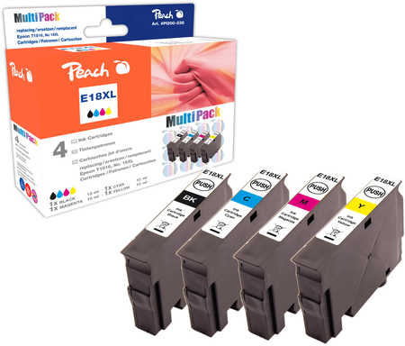 Peach  Spar Pack Tintenpatronen kompatibel zu Epson Expression Home XP-302