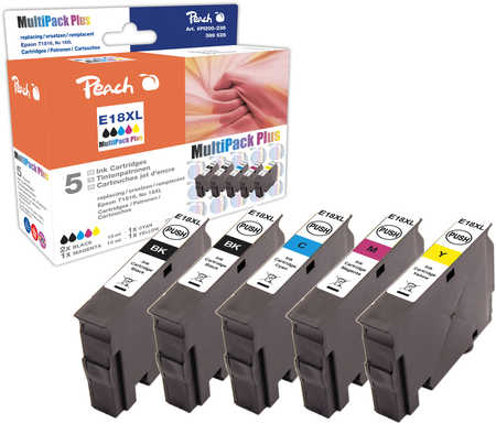 Peach  Spar Pack Plus Tintenpatronen, kompatibel zu Epson Expression Home XP-302
