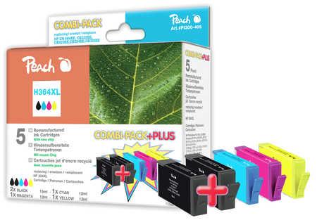 Peach  Spar Pack Plus Tintenpatronen kompatibel zu HP PhotoSmart C 5390