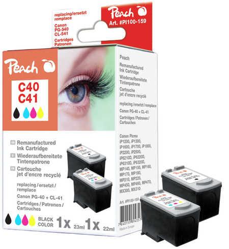 Peach  Spar Pack Tintenpatronen kompatibel zu Canon Pixma IP 1600