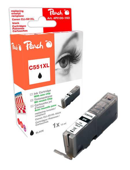 Peach  XL-Tintenpatrone foto schwarz kompatibel zu Canon Pixma MX 725