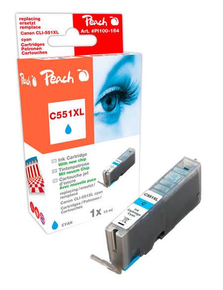 Peach  XL-Tintenpatrone cyan kompatibel zu Canon Pixma MX 725