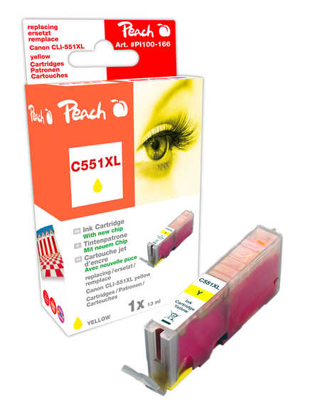 Peach  XL-Tintenpatrone gelb kompatibel zu Canon Pixma MX 725