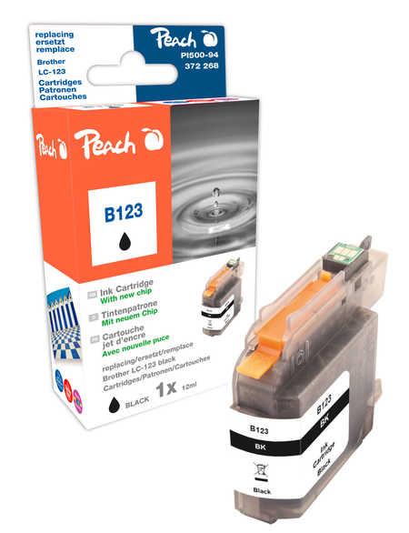 Peach  Tintenpatrone schwarz kompatibel zu Brother MFCJ 6520 DW