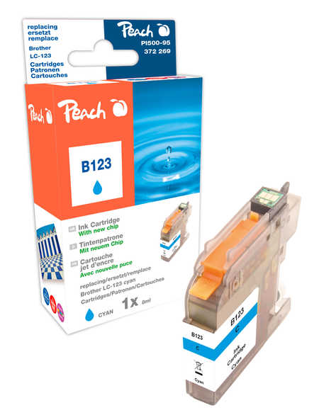 Peach  Tintenpatrone cyan kompatibel zu Brother MFCJ 6520 DW