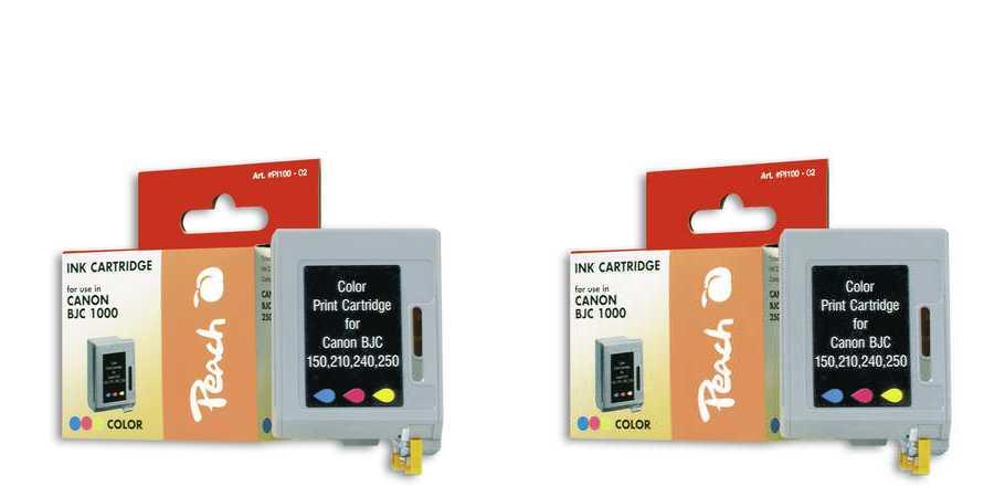 Peach  Doppelpack Druckköpfe color kompatibel zu Apple Color Stylewriter 1500