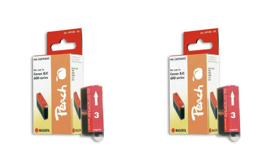 Peach  Doppelpack Tintenpatronen magenta kompatibel zu Apple Stylewriter Pro Color