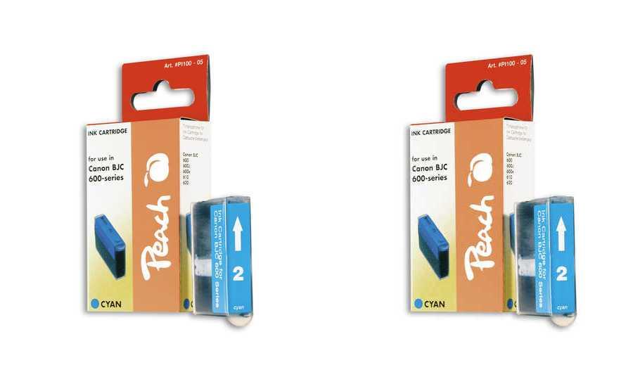 Peach  Doppelpack Tintenpatronen cyan kompatibel zu Apple Stylewriter Pro Color