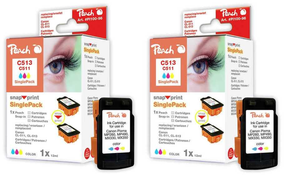 Peach  Doppelpack Tintenpatronen gelb kompatibel zu Apple Stylewriter Pro Color
