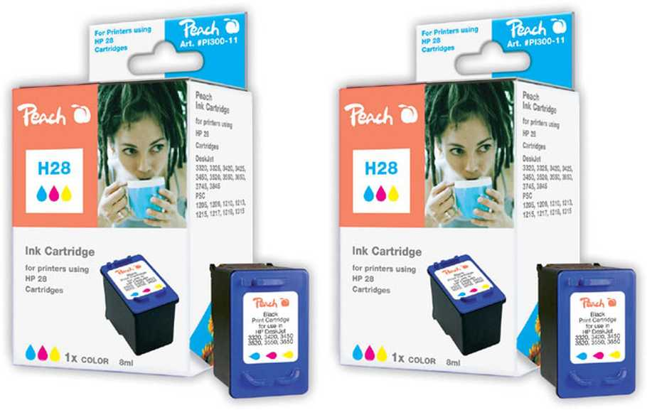 Peach  Doppelpack Druckköpfe color kompatibel zu HP DeskJet 3420