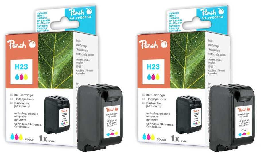 Peach  Doppelpack Tintenpatronen color kompatibel zu HP DeskJet 810 C