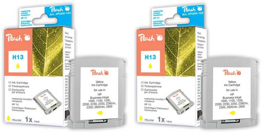 Peach  Doppelpack Tintenpatronen gelb kompatibel zu HP Business InkJet 1000