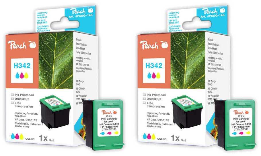 Peach  Doppelpack Druckköpfe color kompatibel zu HP PSC 1510